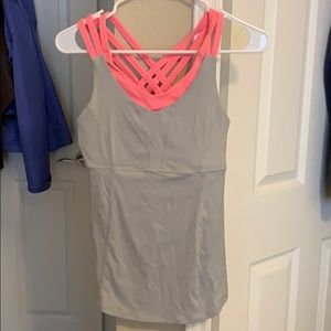 Lululemon tank with built in sports bra pockets
